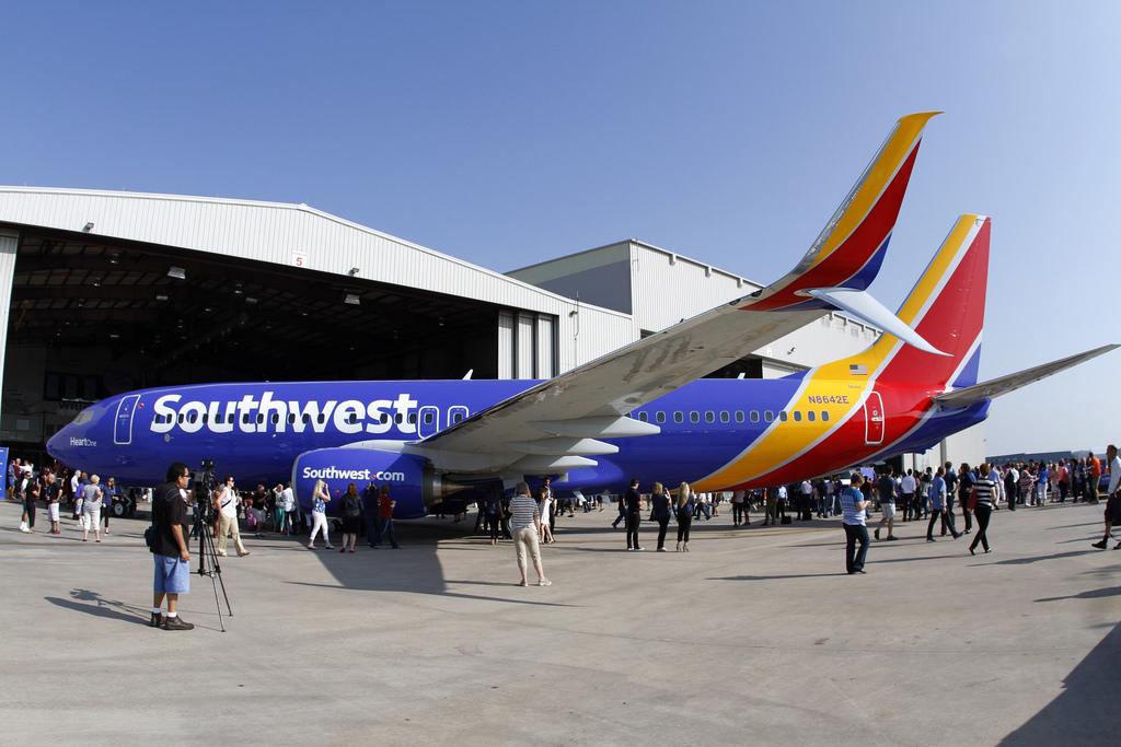 A légitársaság új arculata a hivatalos bemutatón. (Fotó: Southwest) | © AIRportal.hu