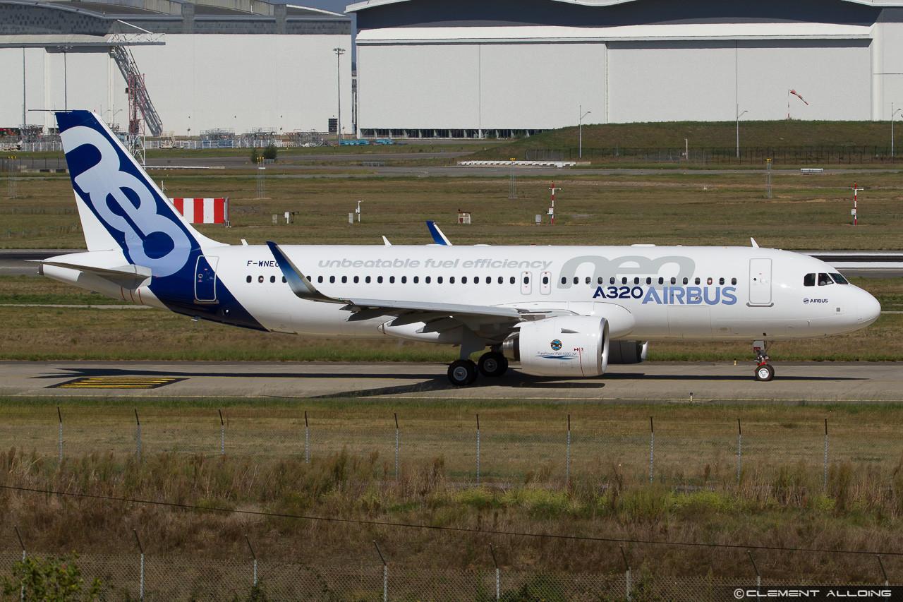Az első A320neo prototípus szeptember 10-én Toulouse-ban. (Fotó: Clément Alloing - flickr) | © AIRportal.hu