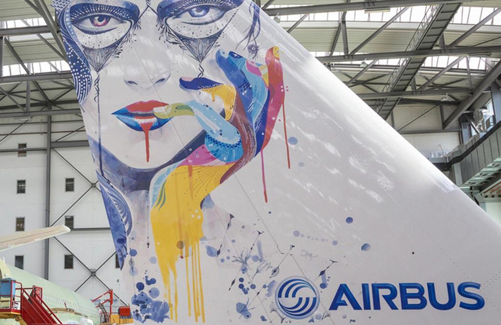 Az Airbus hamburgi üzemében már el is készítették az első tintás módszerrel megalkotott festést. (Fotó: Airbus) | © AIRportal.hu
