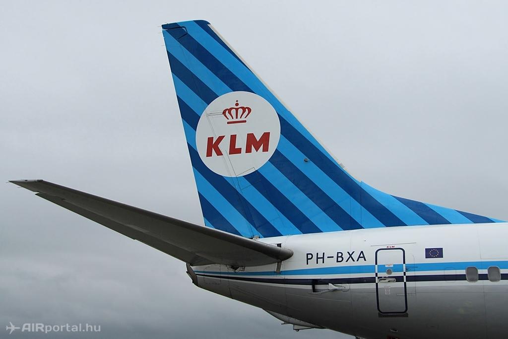 A vezérsík, a korabeli KLM emblémával. (Fotó: Csemniczky Kristóf - AIRportal.hu) | © AIRportal.hu