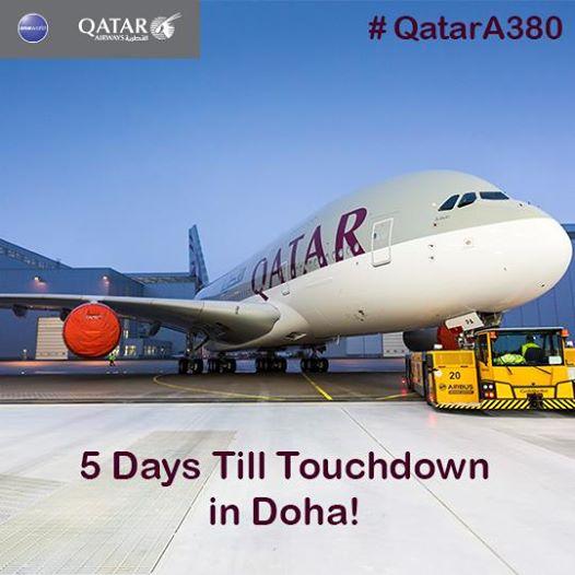 Megkezdődött a visszaszámlálás. Ilyen fotó-közleményekkel hívja fel a figyelmet a Qatar a nagy napra. (Forrás: Qatar Airways - facebook) | © AIRportal.hu