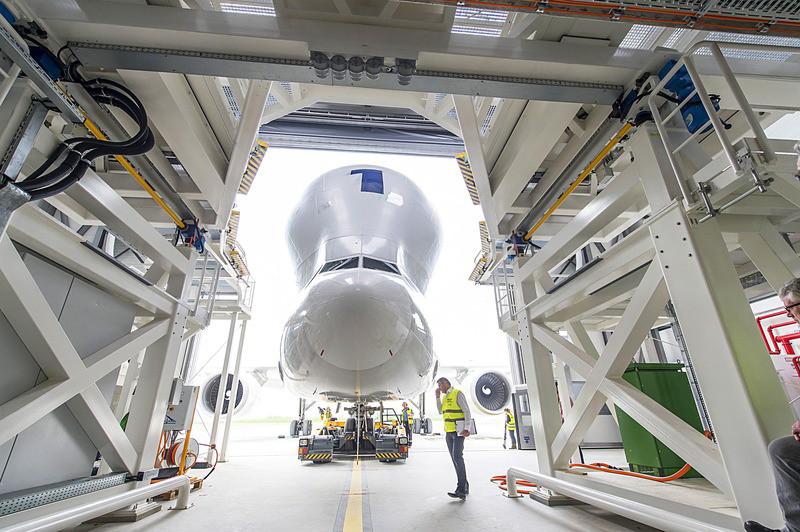 Hat új rakodó terminált épít az Airbus a hatékonyabb kiszolgálás érdekében. Az elsőt idén májusban, Hamburgban adták át. (Fotó: Airbus)   © AIRportal.hu