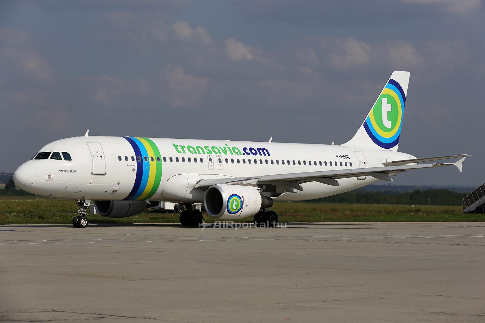 A Transavia egyik Air France-tól átvett Airbus A320-as repülőgépe. (Fotó: AIRportal.hu) | © AIRportal.hu
