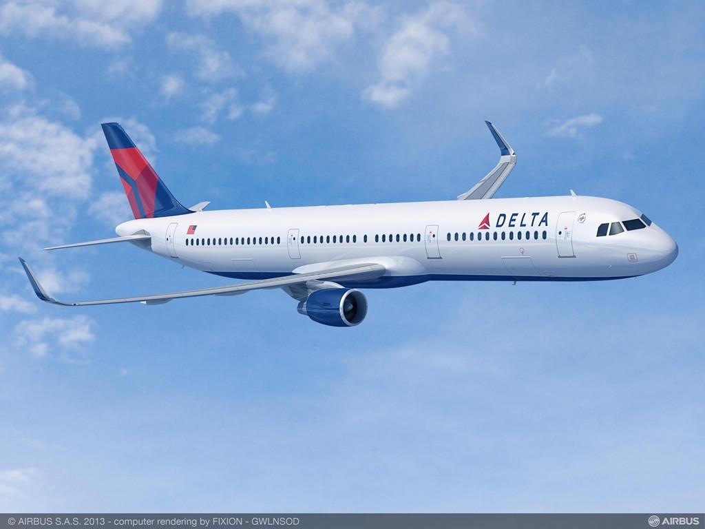 A Delta Air Lines Airbus A321-esein lesznek először az új csomagtartókból. (Fotó: Airbus)   © AIRportal.hu
