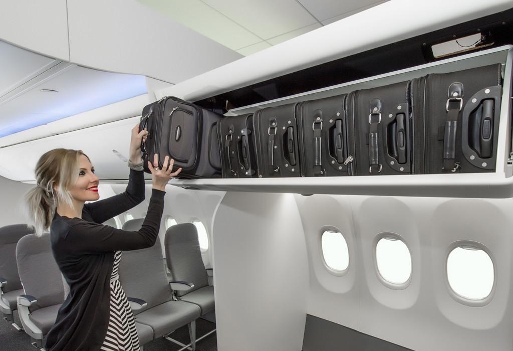 Ilyen a Boeing Space Bin rekesze a gyártó fotóján. (Forrás: Boeing Company)   © AIRportal.hu