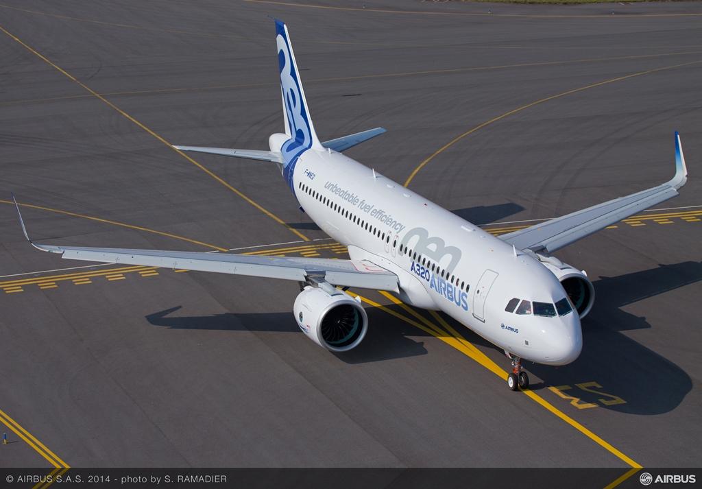A földet értést követően, a levegőből fotózva 2. (Fotó: Airbus) | © AIRportal.hu