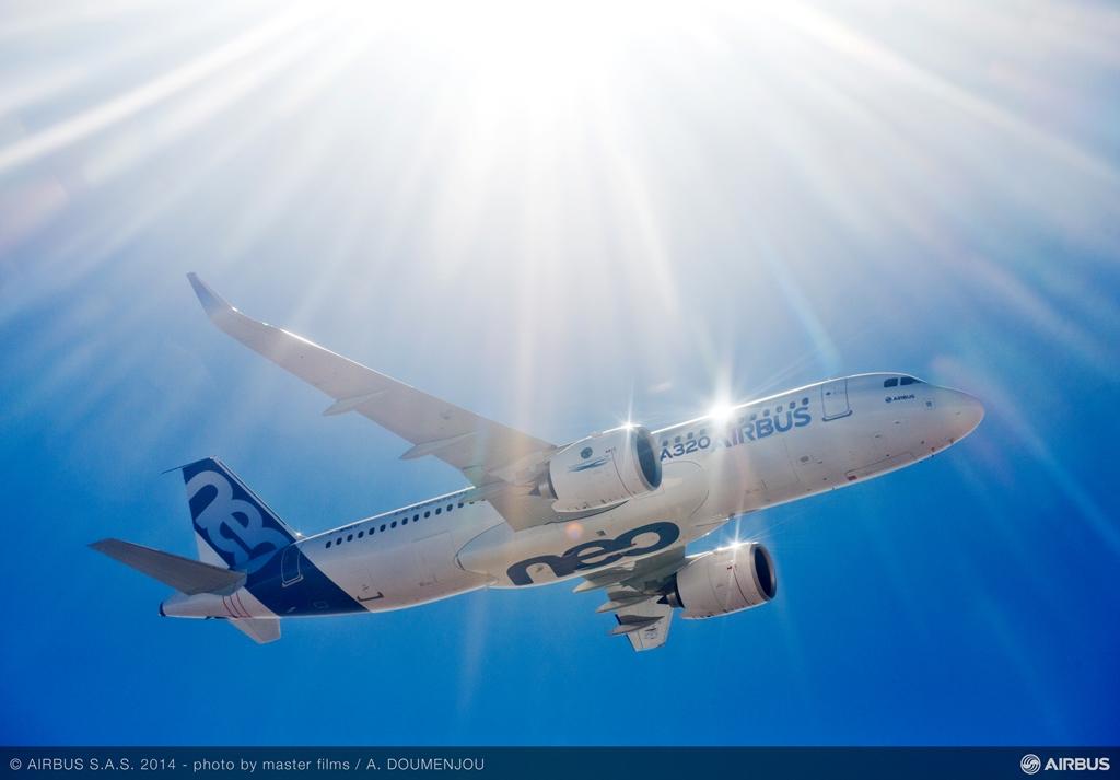 Repülés közben, behúzott futókkal. (Fotó: Airbus) | © AIRportal.hu