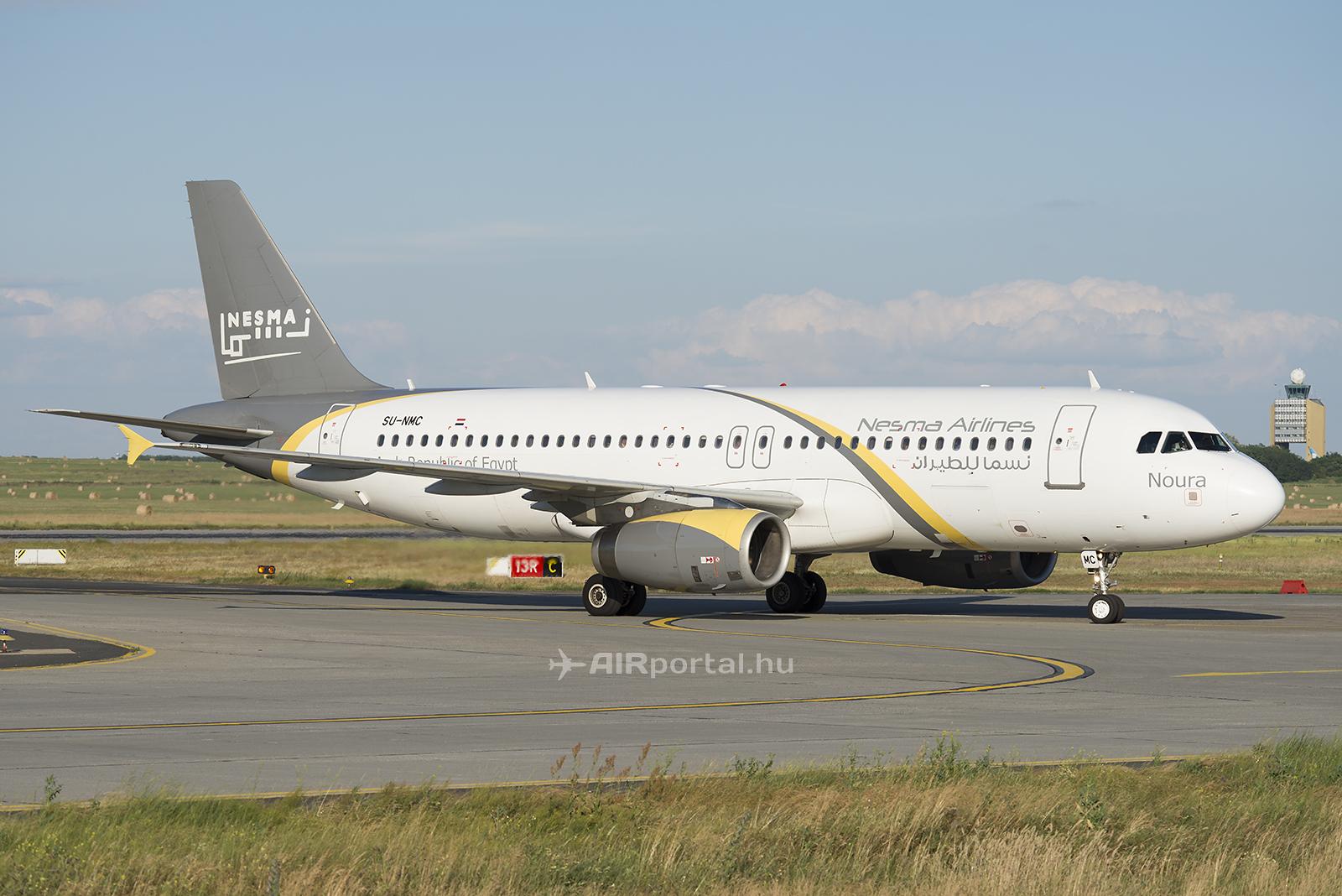 A Nesma Airlines egyik A320-as repülőgépe Ferihegyen. (Fotó: Bodorics Tamás - AIRportal.hu)   © AIRportal.hu