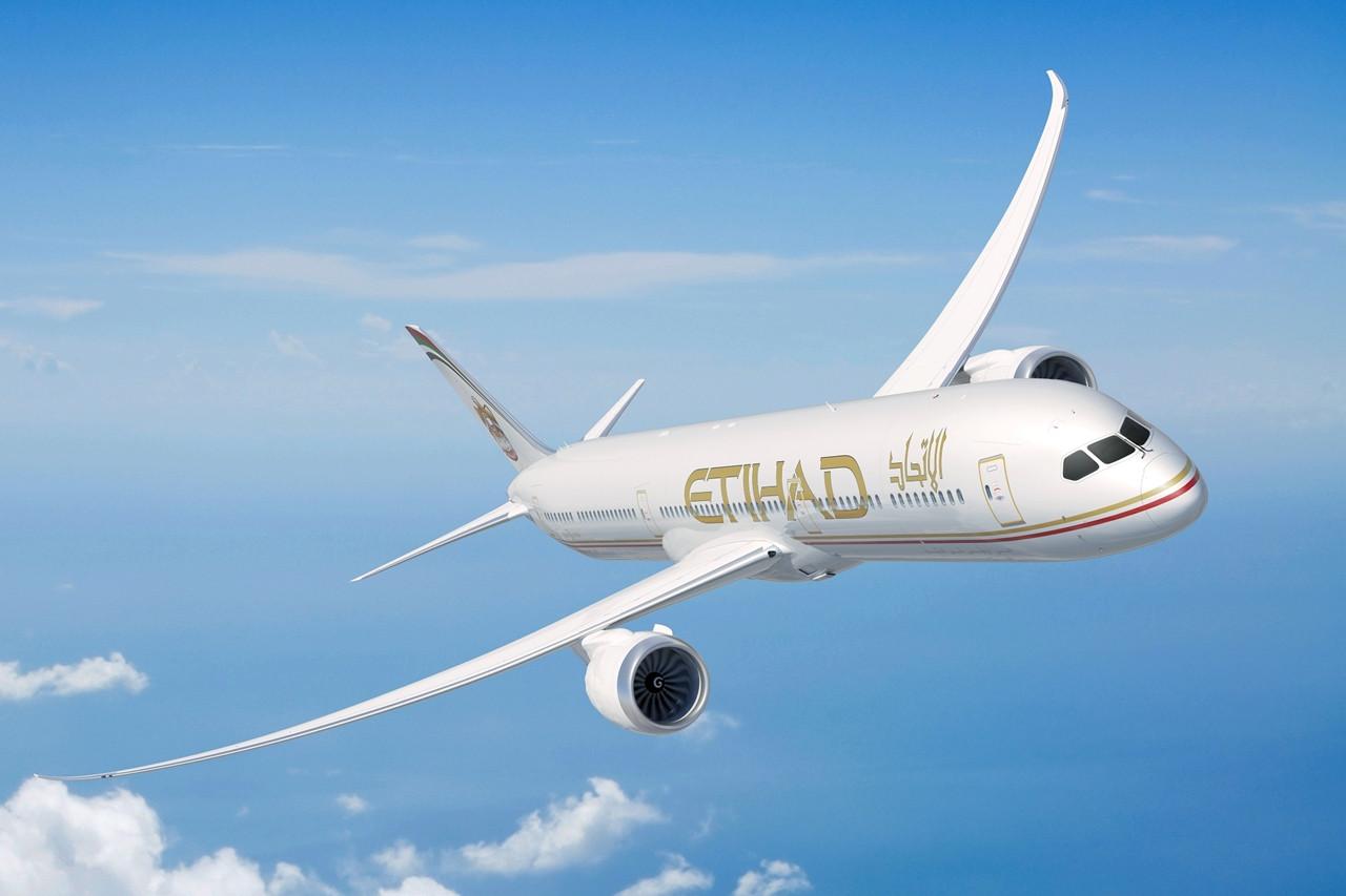 Szerződéskötéskori számítógépes látványterv a Boeing 787-esről. Így érkeztek volna a gépek, ha a társaság nem dönt az arculatváltás mellett. (Forrás: Etihad Airways)   © AIRportal.hu