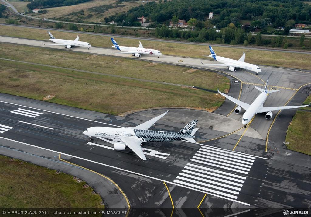 Felszálláshoz készül az ünnepi kötelék. (Fotó: Airbus) | © AIRportal.hu