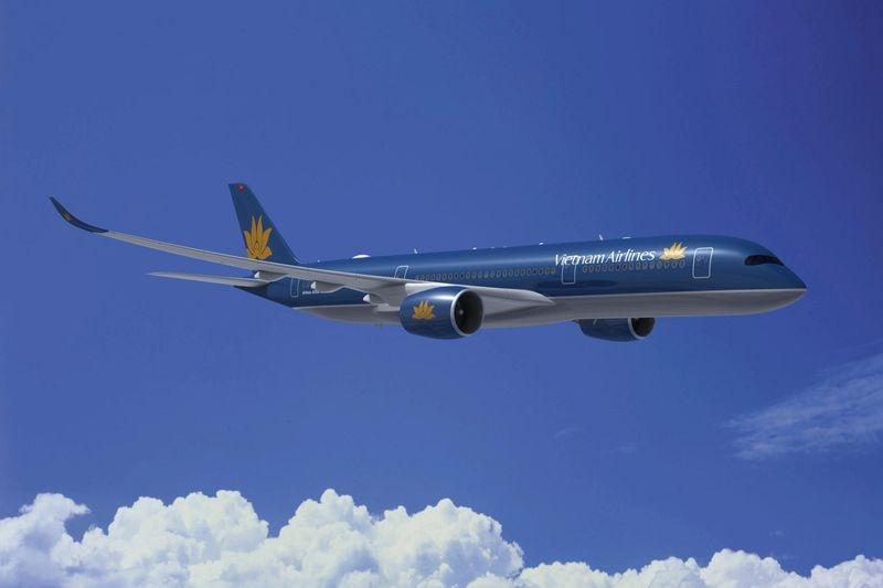 Így fest számítógépes látványterven a Vietnam Airlines A350-es. (Forrás: Airbus)   © AIRportal.hu