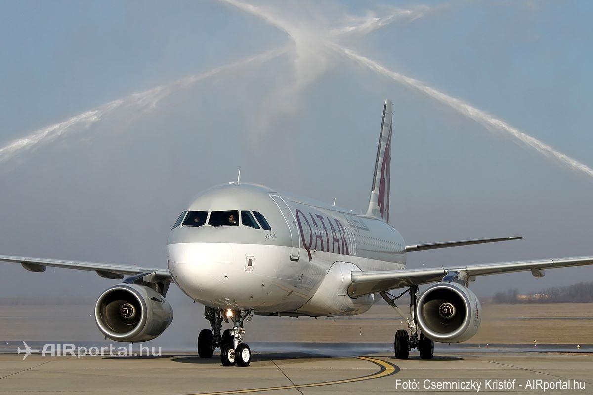 Az első Qatar Airways járat ünnepélyes köszöntése Budapesten, 2011-ben. (Fotó: Csemniczky Kristóf - AIRportal.hu) | © AIRportal.hu
