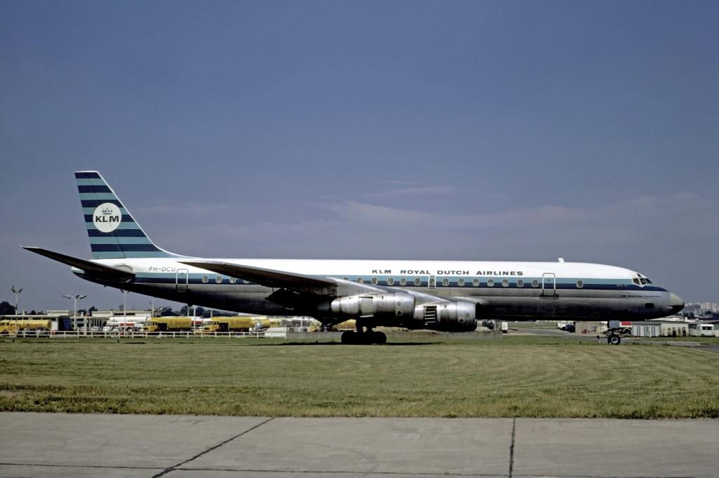 Az első sugárhajtású gép a flottában a Douglas négy-hajtóműves DC-8-asa volt. (Fotó: Christian Volpati - Wikimedia) | © AIRportal.hu