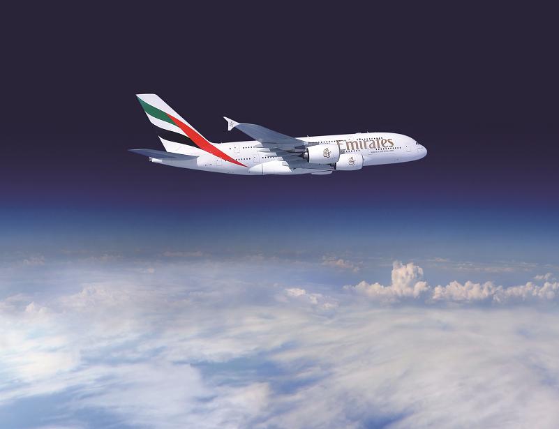 Emirates A380-800-as repülés közben. (Fotó: Emirates)   © AIRportal.hu