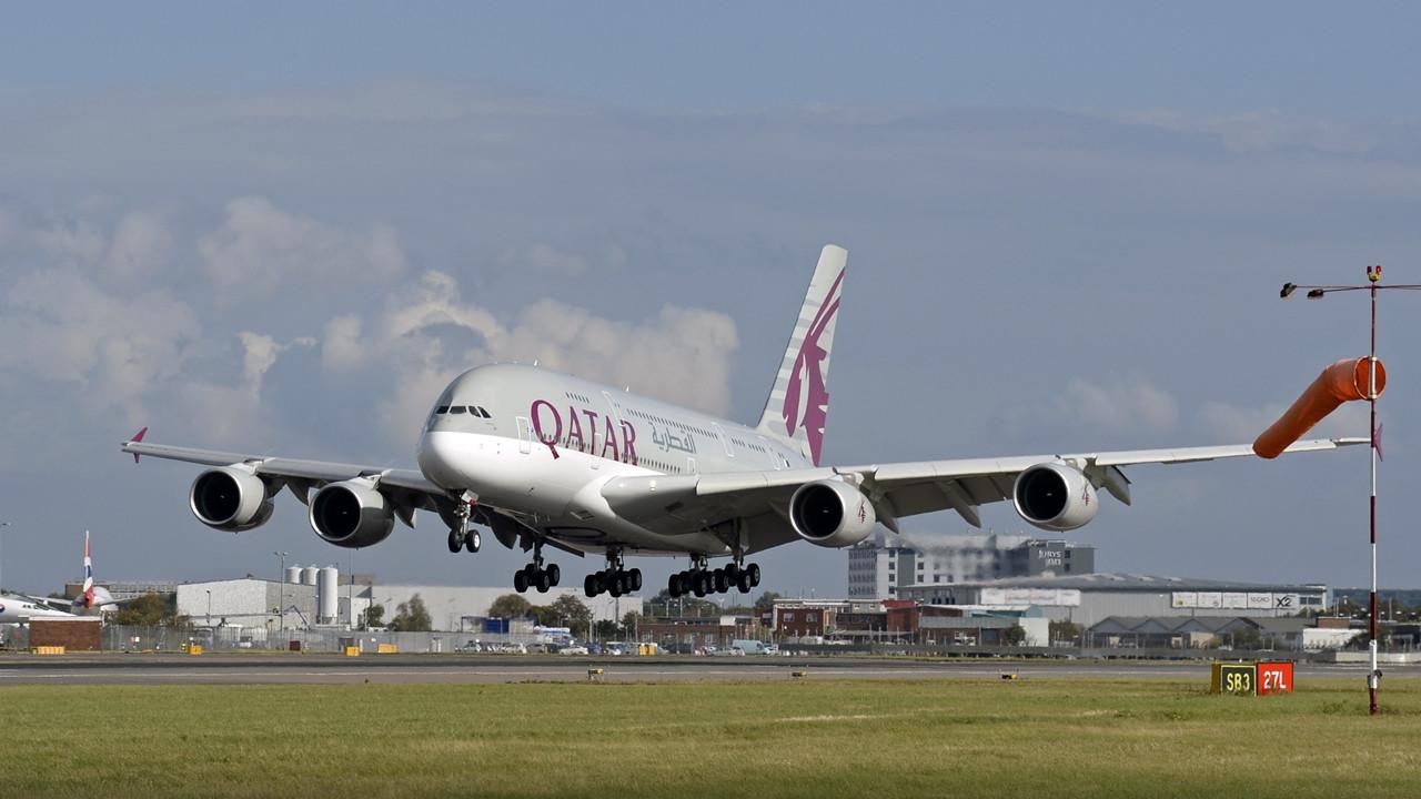 Az első londoni leszállás, 2014. október 10-én. (Fotó: Qatar Airways) | © AIRportal.hu