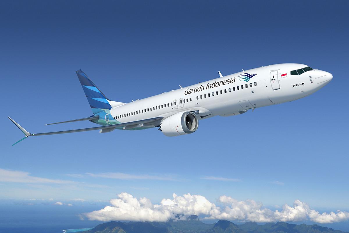 A Boeing 737-8 MAX hivatalos grafikája a Garuda Indonesia festésében. (Grafika: Boeing)   © AIRportal.hu