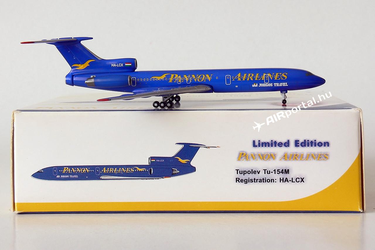 A Phoenix Model 2006-ban adta ki limitált, összesen 600 példányszámban az egykori magyar magán légitársaság, a Pannon Airlines Tu-154M típusú repülőgépének modelljét.   © AIRportal.hu