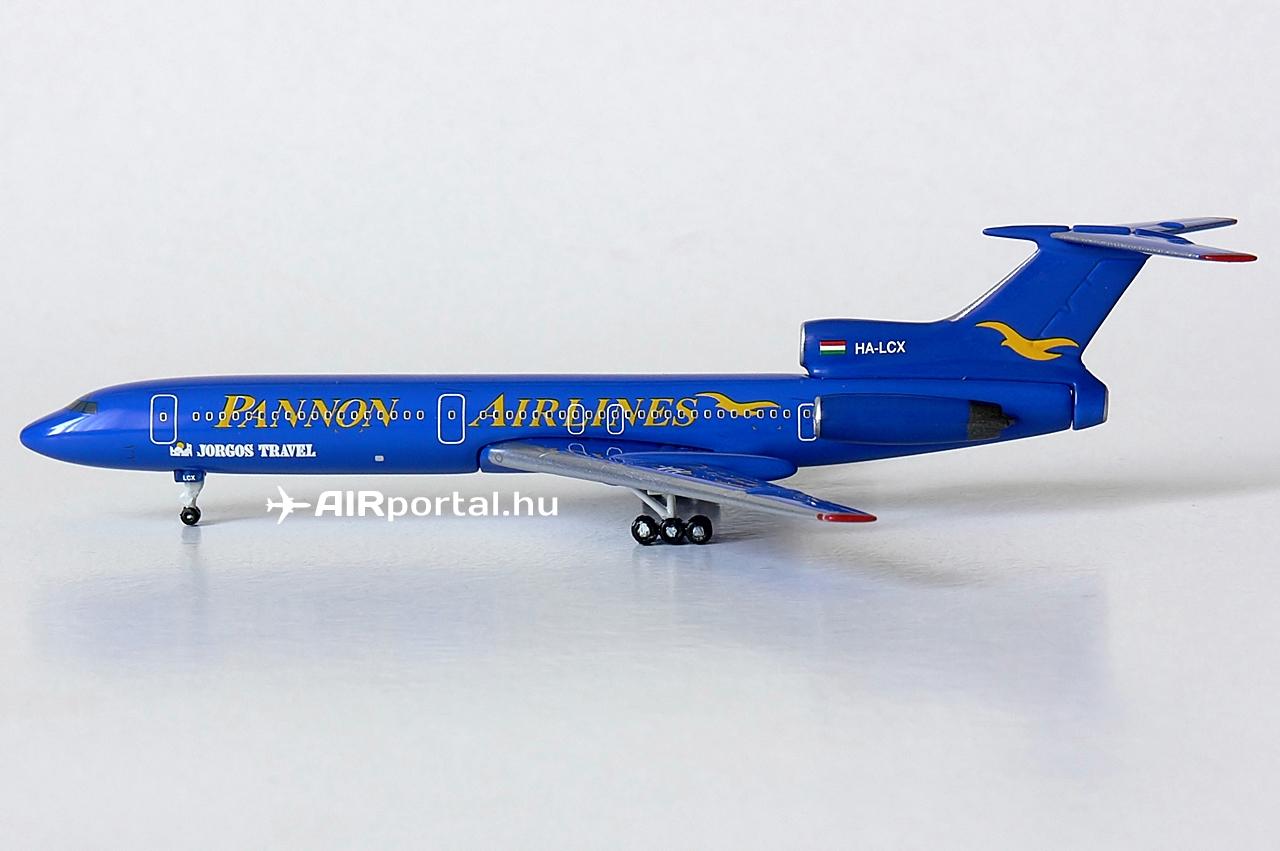 Pannon Airlines repülőgépmodellt eddig egyetlen más gyártó sem bocsátott ki, a Phoenix az egyedüli, amely a magyar repülésrajongók, valamint a Tu-154-es típus kedvelőinek örömére kiadta ezt a modellt. A limitált példányszámból, valamint abból fakadóan, hogy csaknem tíz éve jelent meg, újonnan, bontatlan csomagolásban igen nehéz beszerezni. A komoly gyűjtők az eredeti ár két-háromszorosát is hajlandók megadni egy hibátlan példányért.   © AIRportal.hu