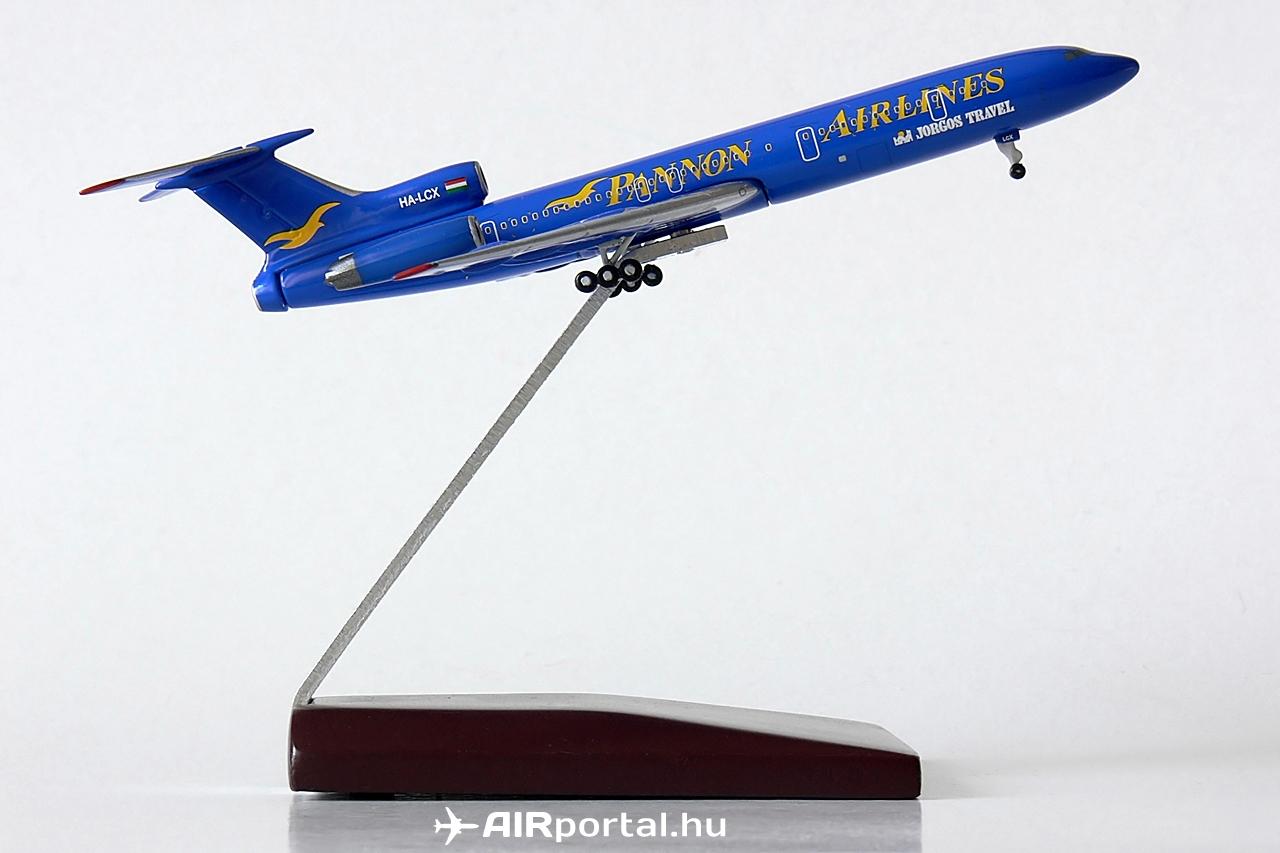 Az 1988-ban gyártott, 88A788 gyári számú Tu-154M első üzemeltetője az Aeroflot volt. Ferihegyre 2000. május 11-én érkezett. Törzsének oldalára, az ablaksor alá Jorgos Travel felirat került, amelyet később eltávolítottak. Magyar lajstromban az első charter járatát 2000. május 16-án teljesítette a gép.   © AIRportal.hu