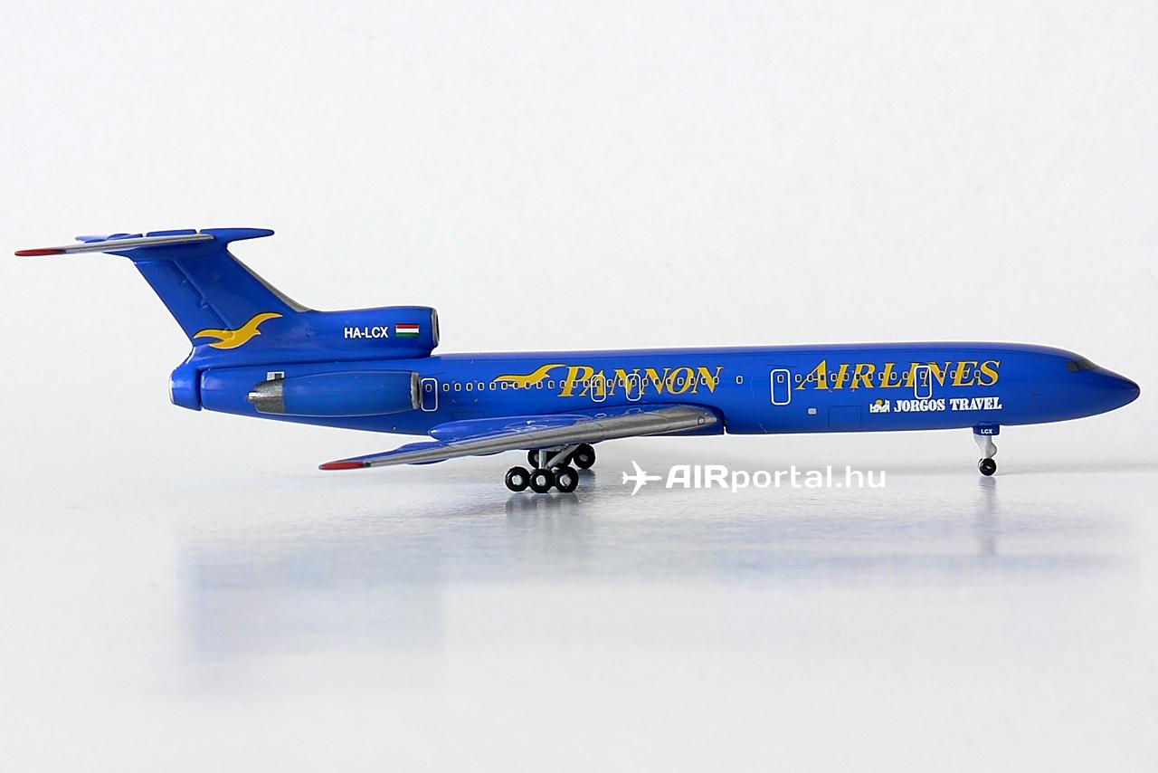 Az 1999-ben alapított Pannon Airlines 2000 májusában jelentette be, hogy birtokában van a működéséhez szükséges légügyi hatósági engedélyeknek, amelyek a légitársaságot kizárólag charter járatok üzemeltetésére jogosították fel. Ezzel új szereplő jelent meg a magyarországi charter piacon, amelyet akkoriban szinte kizárólagosan a Malév uralt. A nemzeti légitársaság ekkor még többnyire ugyancsak Tu-154-esekkel repítette utasait a különféle nyaraló desztinációkra.   © AIRportal.hu