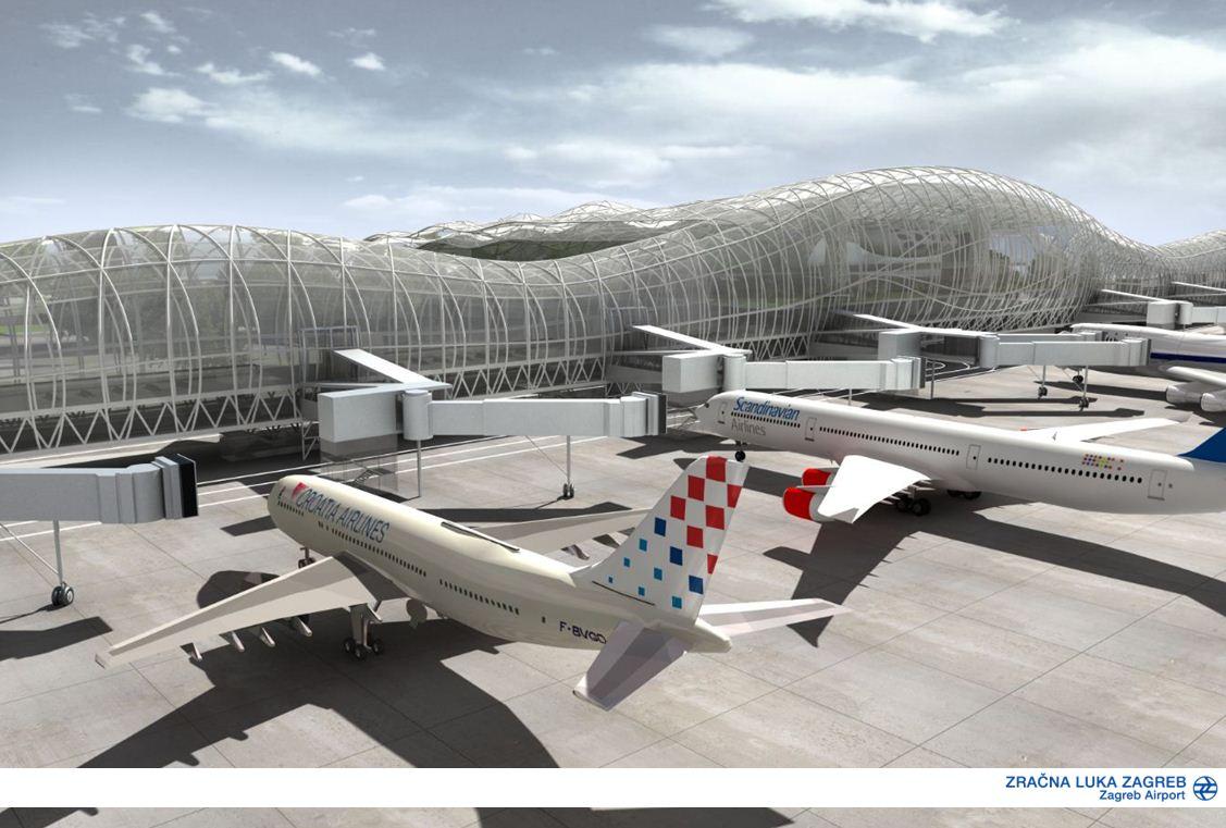 A terminál nyolc új utashidat kap majd. (Grafika: Zagreb Airport) | © AIRportal.hu