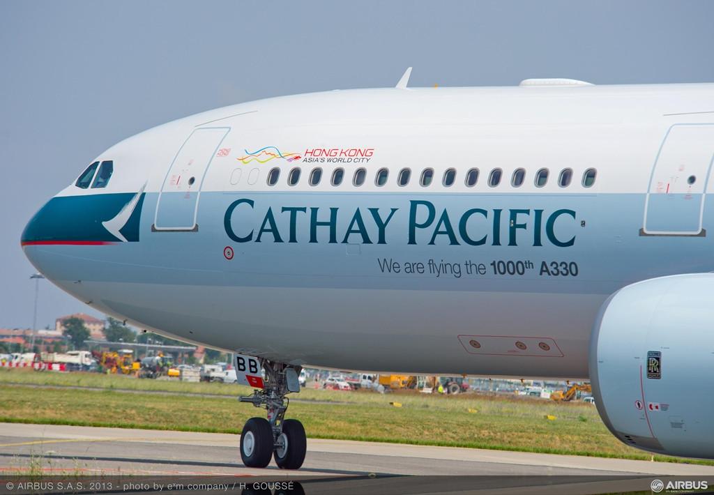 Az ezredik A330-as tavaly készült el a Cathay Pacifc számára, amely egy utasszállító 300-as szériát rendelt és vett át. (Fotó: Airbus) | © AIRportal.hu