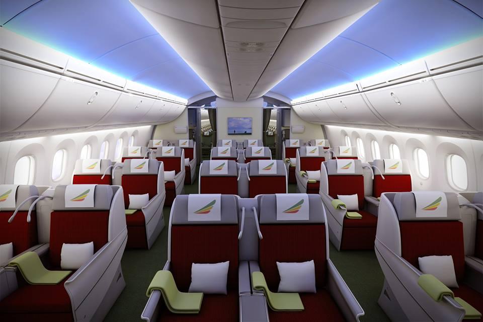 Az Ethiopian Airines Boeing 787-8-asának Cloud Nine Business Class fedélzete. (Fotó: Ethiopian Airlines) | © AIRportal.hu