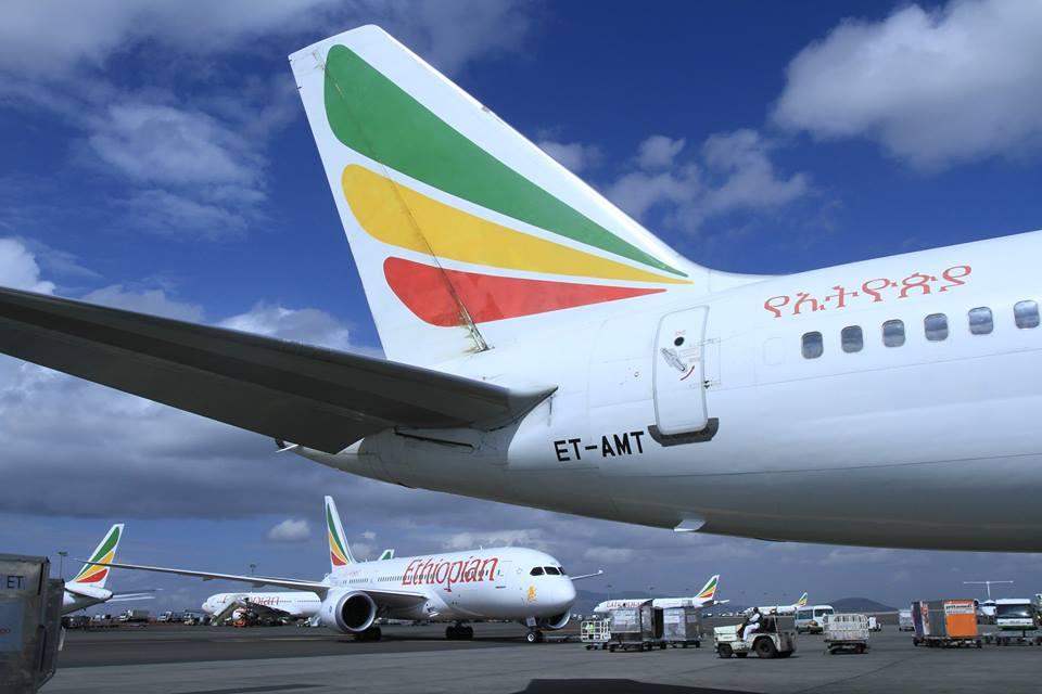 Életkép a addiszi repülőtérről, Boeing 787-es Dreamlinerrel. (Fotó: Ethiopian Airlines) | © AIRportal.hu