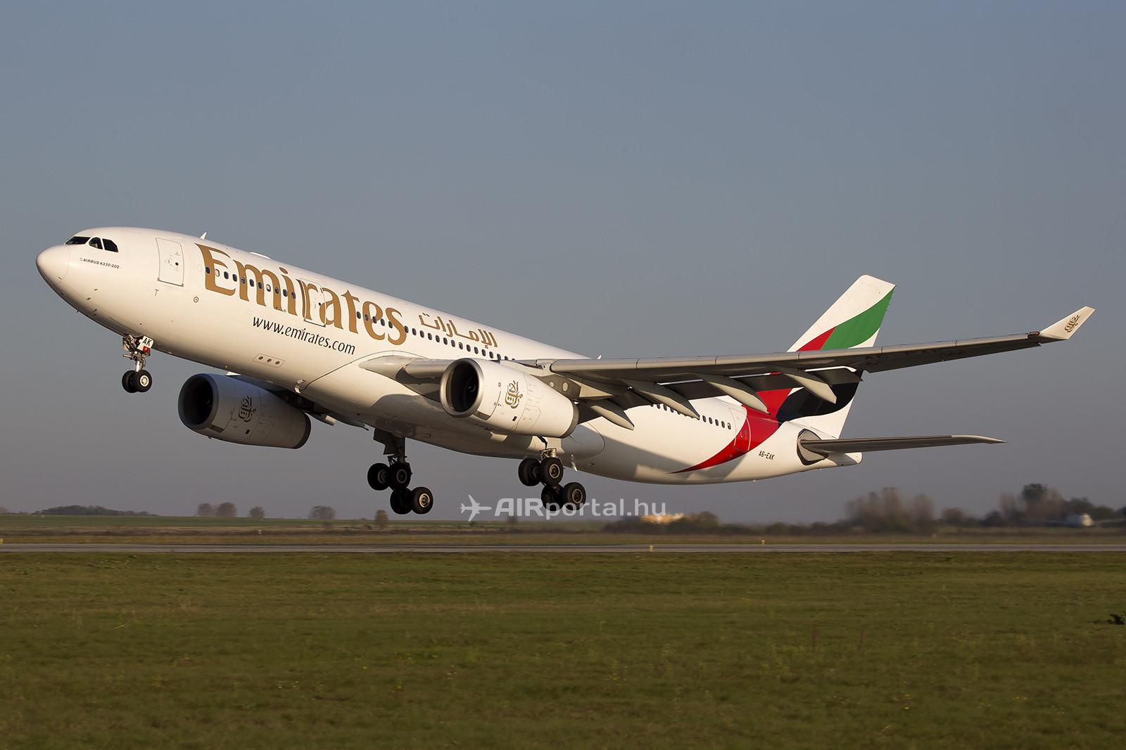 Az Emirates Rolls-Royce Trent hajtóművekkel üzemelteti A330-asait, amelyek maximális felszállósúlya 230 tonna. (Fotó: Samu Ádám - AIRportal.hu) | © AIRportal.hu