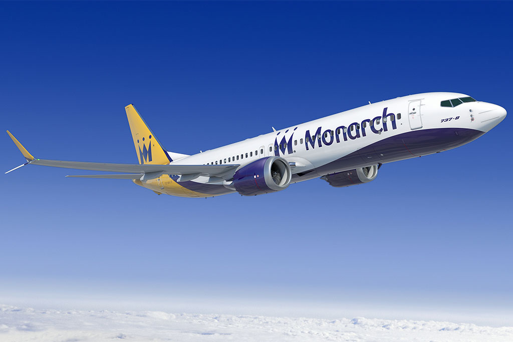 A Boeing 737 MAX-8-as Monarch színekben. (Forrás: Boeing) | © AIRportal.hu