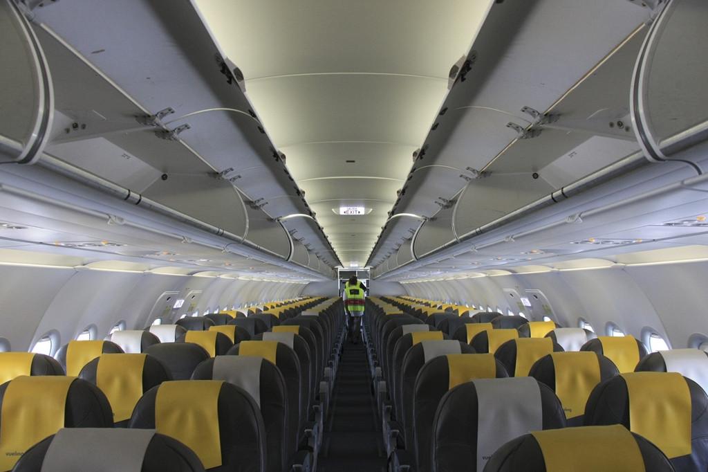 A Vueling egyik Airbus A320-asának fedélezte. (Fotó: Budapest Airport) | © AIRportal.hu