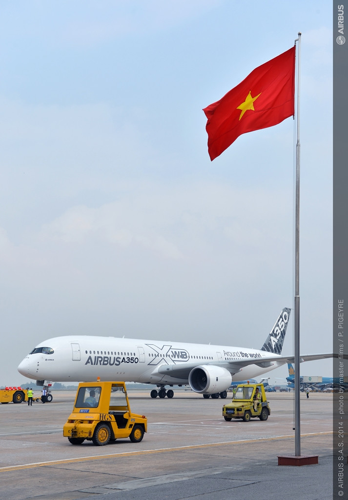 Az A350-900XWB Vietnámban. (Fotó: Airbus) | © AIRportal.hu