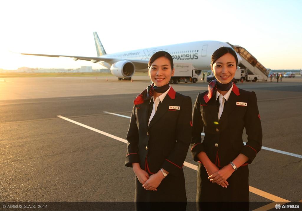 Tokióban. Japánban a Japan Airlines rendelt A350-eseket. Jelentős szerződés. (Fotó: Airbus) | © AIRportal.hu