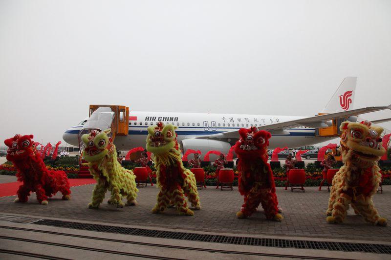 Így ünnepelték a századik kínai gyártású Airbust 2012-ben. (Fotó: Airbus) | © AIRportal.hu