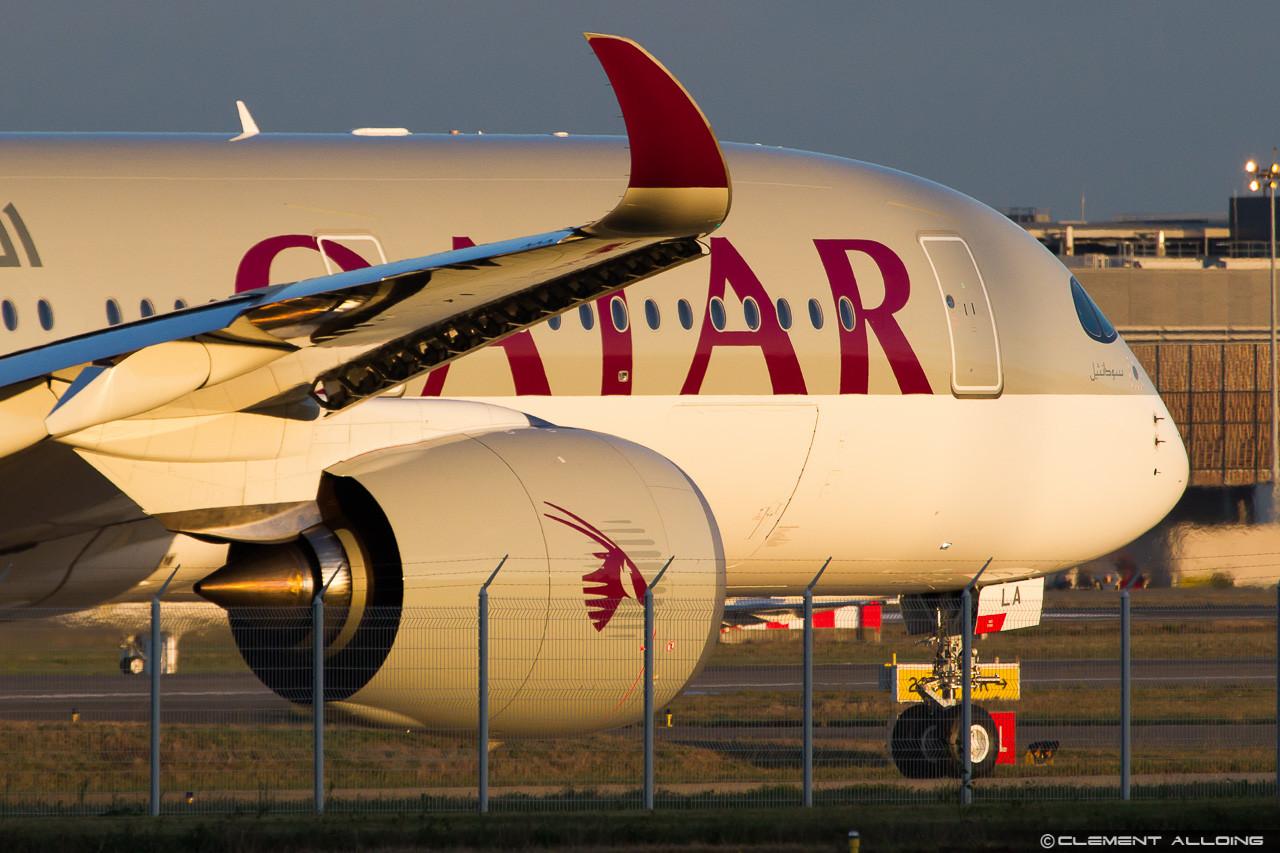 December 9-én Toulouseban az átadásra váró katari A350-900-as. (Fotó: Clément Alloing - flickr. / A szerző engedélyével.)   © AIRportal.hu