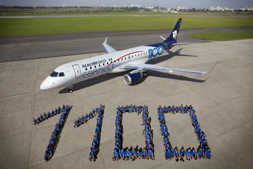 Az 1100. Embraer E-Jet, az Aeroméxico Connect E-190-es típusa. (Fotó: Embraer) | © AIRportal.hu