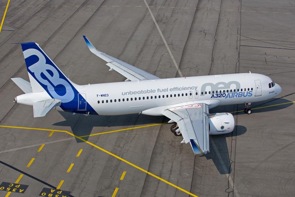 Az első A320neo prototípus a szűzrepülésének napján, szeptember 25-én. (Fotó: Airbus) | © AIRportal.hu