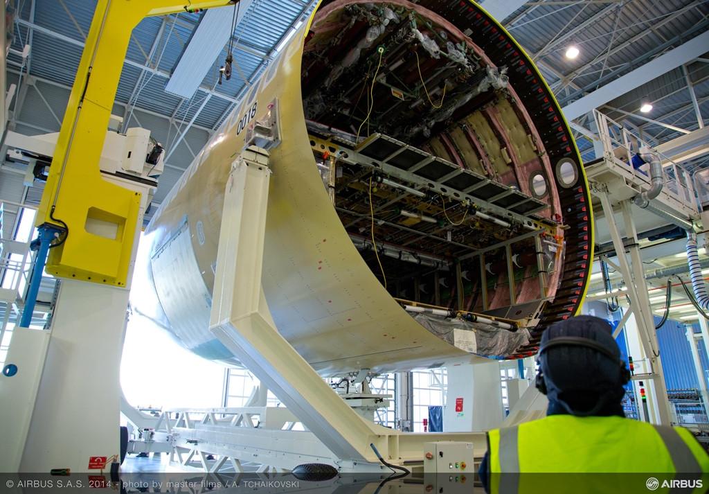 ...és a hátsó megérkezése. (Fotó: Airbus) | © AIRportal.hu