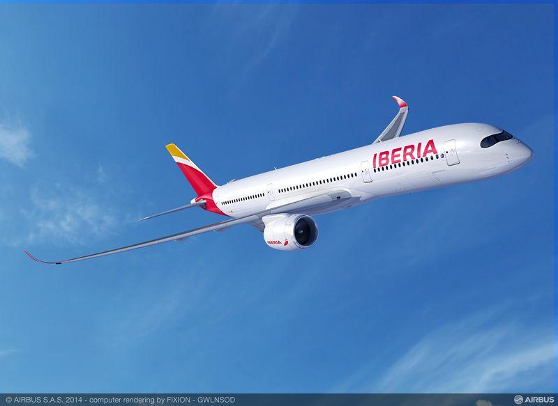 Iberia Airbus A350-900XWB látványterv. (Forrás: Airbus)   © AIRportal.hu