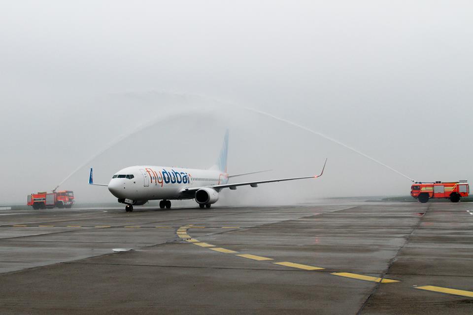 A nyitójárat vízsugaras köszöntése december 16-án.(Fotó: Zagreb Airport) | © AIRportal.hu