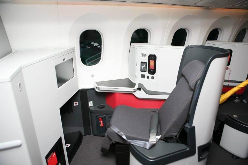 A business osztályú ülések egyike. (Fotó: Avianca) | © AIRportal.hu