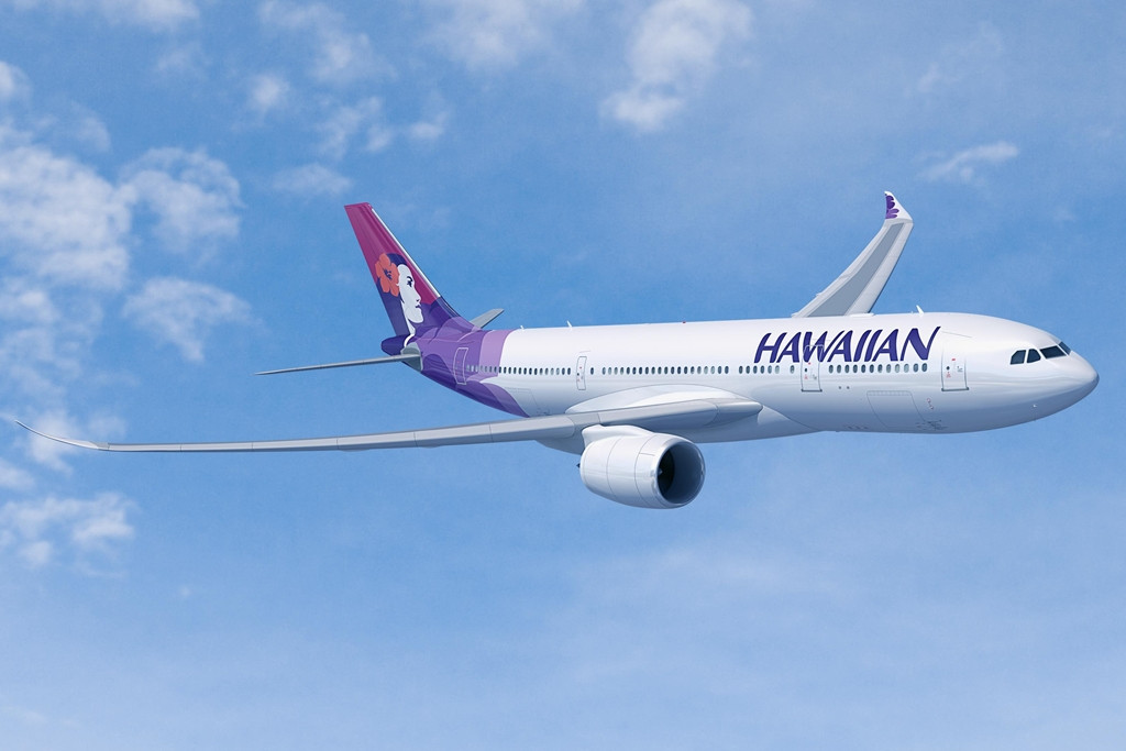 A továbbfejlesztett A330neo mintegy 400 tengeri mérfölddel nagyobb hatótávot és plusz 14%-os takarékossági előnyt ígér. A képen a Hawaiian A330-800neo látványterve látható. (Forrás: Airbus)   © AIRportal.hu