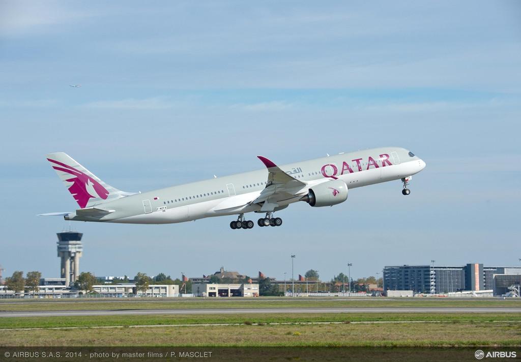 Felszállás Toulouseból, az első repülés alkalmával október 15-én. (Fotó: Airbus) | © AIRportal.hu