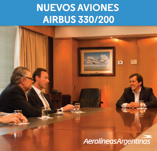 Mariano Recalde az Aerolíneas Argentinas központjában fogadta az Airbus vezetőjét. (Fotó: Aerolíneas Argentinas)   © AIRportal.hu