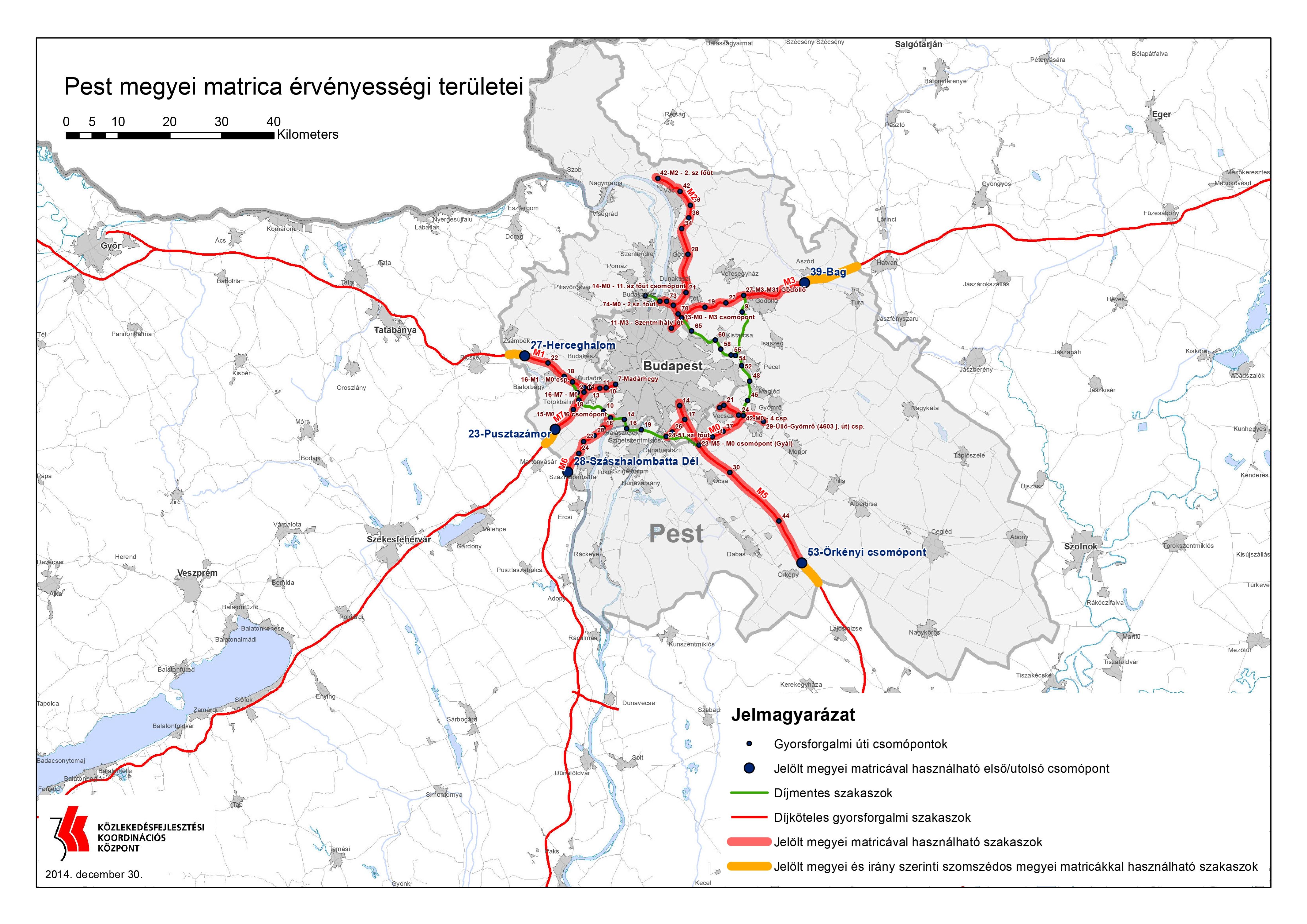 A térkép. Ti hogy látjátok, fizetős az útszakasz? (Forrás: kormany.hu) | © AIRportal.hu