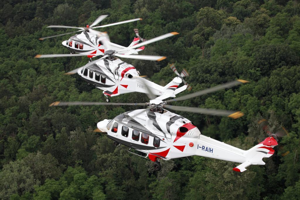 Az AW család egy része, előtérben az AW189-es (Forrás: AgustaWestland)   © AIRportal.hu