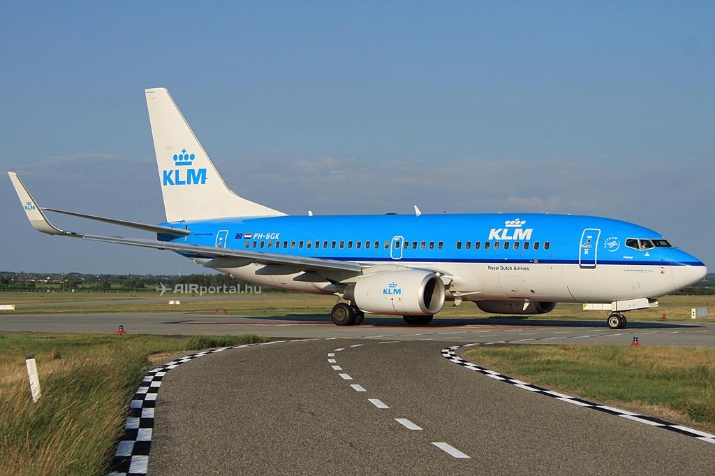 KLM Boeing 737-700NG Budapesten. (Fotó: Csemniczky Kristóf - AIRportal.hu)   © AIRportal.hu