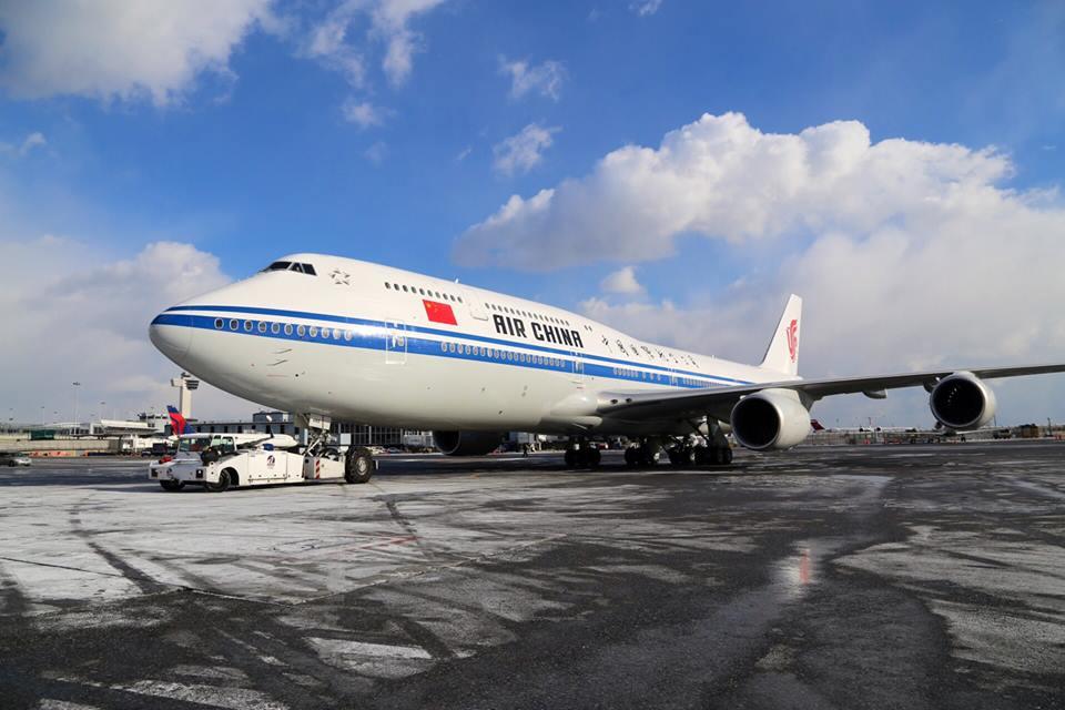Air China Boeing 747-8I New Yorban, 2015. január 7-én. (Fotó: Air China) | © AIRportal.hu