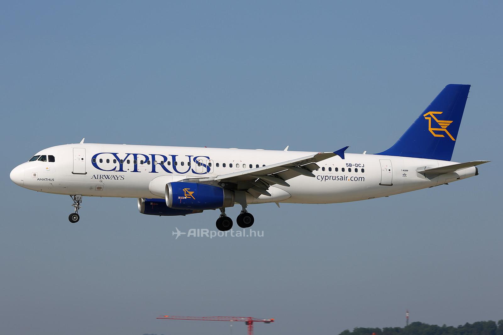 A Cyprus Airways Airbus A320-as repülőgépe. (Fotó: AIRportal.hu) | © AIRportal.hu