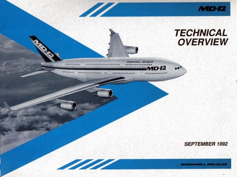 Az 1992-ben bemutatott MD-12 koncepció katalógus részlete. (Forrás: magángyűjtemény) | © AIRportal.hu